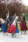 Cavaleiros medievais Fotos de Stock Royalty Free