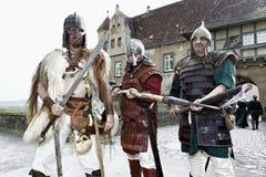 Cavaleiros medievais Imagem de Stock Royalty Free