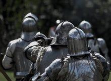 Cavaleiros medievais Fotos de Stock