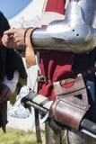 Cavaleiros medievais Foto de Stock