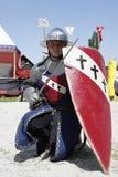 Cavaleiros medievais usados na batalha Fotografia de Stock