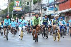 Cavaleiros não identificados na ação durante a bicicleta para o evento da mamã Fotos de Stock Royalty Free