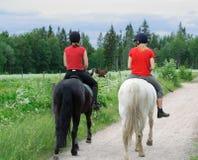 Cavaleiros novos Imagem de Stock Royalty Free