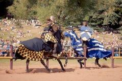 Cavaleiros que jousting Imagem de Stock Royalty Free