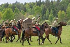 Cavalerie avec des épées Photo stock