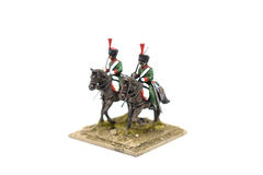 Cavalerie Toy Soldiers de deux Russes Photographie stock