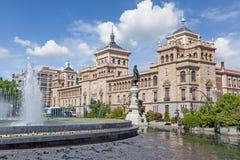 Cavalerieacademie die op Zorilla-vierkant in Valladolid voortbouwen royalty-vrije stock afbeelding
