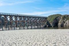 Cavalete da angra do pudim em Fort Bragg, Califórnia Imagens de Stock