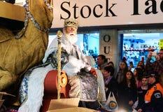 Cavalgada da parada dos três Reis Magos Fotografia de Stock