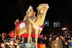 Cavalgada dos três Reis Magos em Tarragona, Espanha Foto de Stock Royalty Free