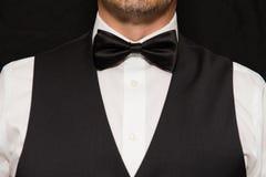 Cavalheiro no Waistcoat e no Bowtie Fotos de Stock Royalty Free