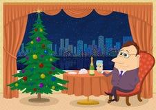 Cavalheiro que comemora o Natal Imagem de Stock