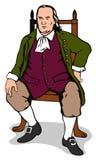 Cavalheiro que senta-se em uma cadeira ilustração royalty free