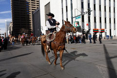 Cavalier à l'exposition courante occidentale nationale  Photos stock