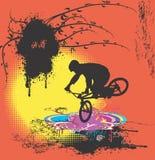 Cavalier 01 de bicyclette Photos libres de droits