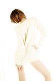 Cavalier blanc Photos stock
