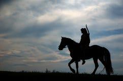 Cavalier d'équitation Photos stock