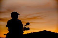 Cavalier de coucher du soleil Photo stock