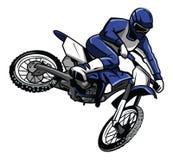 Cavalier de croix de Moto Photographie stock