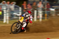 Cavalier de Grasstrack Photo stock