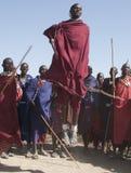 Cavalier de masai Photographie stock