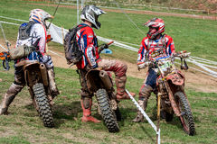 Cavalier de motocross à la course de rodéo de Drapak Photos stock