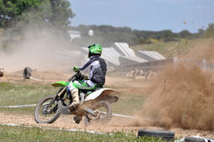 Cavalier de motocross Photographie stock