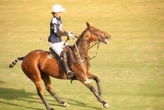 Cavalier de polo Image libre de droits