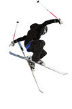 Cavalier de ski en noir et blanc Photographie stock