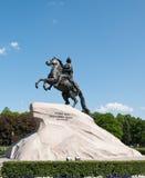 Cavalier en bronze. St Petersburg, Russie. Photo libre de droits