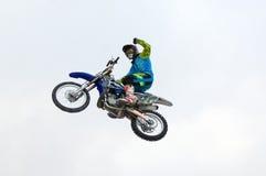 Cavalier Ivan Kargopoltsev de FMX Photos stock