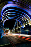 London Tower Bridge at Night Stock Photo