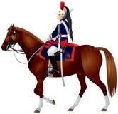 Cavalier republicano francés del protector stock de ilustración