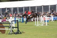 Cavalier sur le cheval aux Frances de Saumur Image libre de droits