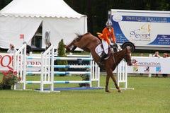 Cavalier sur le cheval aux Frances de Saumur Photo libre de droits