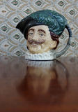 The Cavalier Toby Jug And Reflection. Stock Image
