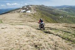 Cavalier tous terrains de moto Photographie stock libre de droits