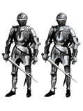 2 cavaliere 2 Immagine Stock