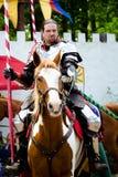 Cavaliere al festival di rinascita Fotografie Stock