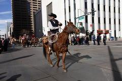 Cavaliere alla manifestazione di riserva occidentale nazionale  Fotografie Stock