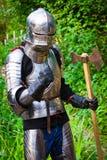 Cavaliere in armatura brillante Fotografie Stock Libere da Diritti