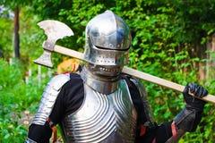 Cavaliere in armatura brillante Fotografia Stock