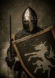 Cavaliere in armatura piena Fotografia Stock Libera da Diritti