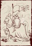 Cavaliere a cavallo Fotografie Stock Libere da Diritti