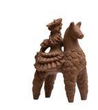 Cavaliere a cavallo fatto di cioccolato al latte saporito Immagine Stock
