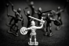 Cavaliere circondato Immagine Stock