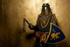 Cavaliere con l'arma Immagine Stock