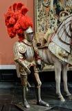 Cavaliere con piuma rossa Immagine Stock Libera da Diritti
