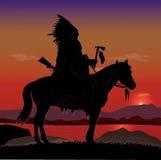Cavaliere del capo indiano Immagine Stock