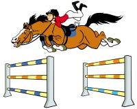 Cavaliere del cavallo del ragazzo Fotografie Stock
